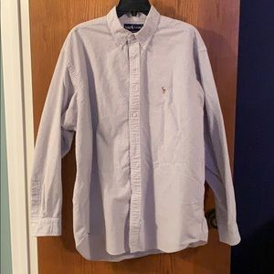 Lavender and white striped oxford by Ralph Lauren